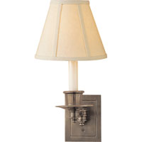 Visual Comfort Studio 1 Light Swing-Arm Wall Light in Antique Nickel S2005AN-L