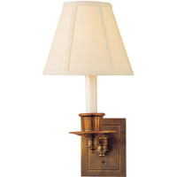 Visual Comfort Studio 1 Light Swing-Arm Wall Light in Hand-Rubbed Antique Brass S2005HAB-L