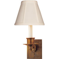 Visual Comfort Studio 1 Light Swing-Arm Wall Light in Hand-Rubbed Antique Brass S2005HAB-T