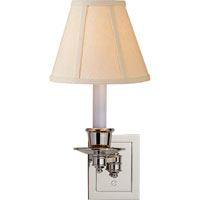Visual Comfort S2005PN-L Studio 7 inch 40 watt Polished Nickel Swing-Arm Wall Light in Linen photo thumbnail
