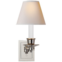 Studio 7 inch 40 watt Polished Nickel Swing-Arm Wall Light in Natural Paper