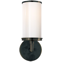 Studio Cylinder 1 Light 6 inch Bronze Bath Wall Light