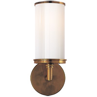 Studio Cylinder 1 Light 6 inch Hand-Rubbed Antique Brass Bath Wall Light