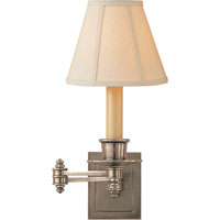 Visual Comfort Studio 1 Light Swing-Arm Wall Light in Antique Nickel S2007AN-L