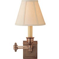 Visual Comfort Studio 1 Light Swing-Arm Wall Light in Hand-Rubbed Antique Brass S2007HAB-L
