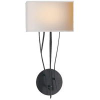 Ian K. Fowler Aspen 1 Light 9 inch Hand Painted Blackened Rust Decorative Wall Light