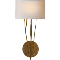 Visual Comfort Studio Aspen 1 Light Decorative Wall Light in Gilded Iron with Wax S2050GI-NP