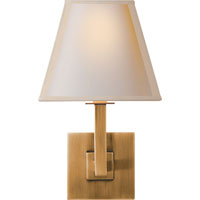 Visual Comfort Studio Architectural 1 Light Decorative Wall Light in Hand-Rubbed Antique Brass S20HAB-NPS