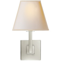 Studio Architectural 1 Light 7 inch Polished Nickel Decorative Wall Light in Natural Paper Square