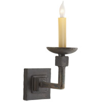 Visual Comfort Studio Kassel 1 Light Decorative Wall Light in Natural Iron with Wax S2107NI