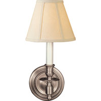 Visual Comfort Studio French 1 Light Decorative Wall Light in Antique Nickel S2110AN-L