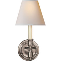 Studio French 1 Light 6 inch Antique Nickel Decorative Wall Light in Natural Paper