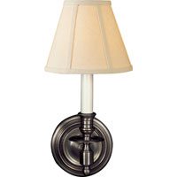 Visual Comfort Studio French 1 Light Decorative Wall Light in Bronze with Wax S2110BZ-L