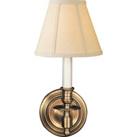 Studio French 1 Light 6 inch Hand-Rubbed Antique Brass Decorative Wall Light in Linen