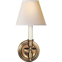 Visual Comfort Studio French 1 Light Decorative Wall Light in Hand-Rubbed Antique Brass S2110HAB-NP