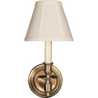 Studio French 1 Light 6 inch Hand-Rubbed Antique Brass Decorative Wall Light in Tissue Silk