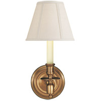 Studio French Library 1 Light 6 inch Hand-Rubbed Antique Brass Decorative Wall Light in Linen