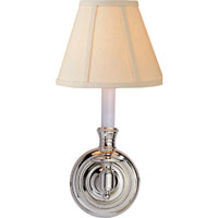 Studio French 1 Light 6 inch Polished Nickel Decorative Wall Light in Linen