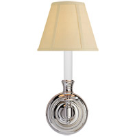 Visual Comfort S2110PN-T Studio French Library 1 Light 6 inch Polished Nickel Decorative Wall Light in Tissue Silk photo thumbnail