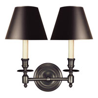 Visual Comfort Studio French 2 Light Decorative Wall Light in Bronze with Wax S2112BZ-B