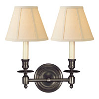 Visual Comfort Studio French 2 Light Decorative Wall Light in Bronze with Wax S2112BZ-L