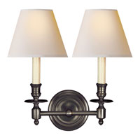Visual Comfort Studio French 2 Light Decorative Wall Light in Bronze with Wax S2112BZ-NP