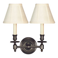 Visual Comfort Studio French 2 Light Decorative Wall Light in Bronze with Wax S2112BZ-T