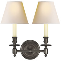 Visual Comfort S2112BZ-NP Studio French Library 2 Light 13 inch Bronze Decorative Wall Light in Natural Paper photo thumbnail