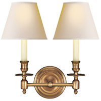 Visual Comfort S2112HAB-NP Studio French Library 2 Light 13 inch Hand-Rubbed Antique Brass Decorative Wall Light in Natural Paper photo thumbnail