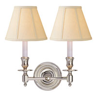 Visual Comfort S2112PN-L Studio French Library 2 Light 13 inch Polished Nickel Decorative Wall Light in Linen