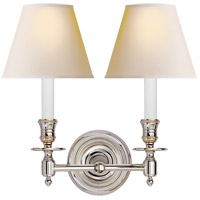 Visual Comfort S2112PN-NP Studio French Library 2 Light 13 inch Polished Nickel Decorative Wall Light in Natural Paper photo thumbnail