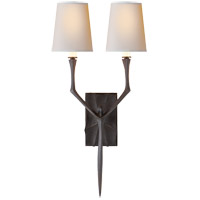 Visual Comfort S2120AI-NP Studio Bristol 2 Light 8 inch Aged Iron with Wax Decorative Wall Light