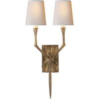 Visual Comfort Studio Bristol 2 Light Decorative Wall Light in Gilded Iron with Wax S2120GI-NP