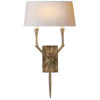Visual Comfort Studio Bristol 2 Light Decorative Wall Light in Gilded Iron with Wax S2121GI-NP