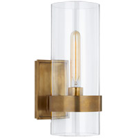Visual Comfort S2166HAB-CG Ian K. Fowler Presidio 1 Light 5 inch Hand-Rubbed Antique Brass Sconce Wall Light, Small