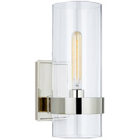 Visual Comfort S2166PN-CG Ian K. Fowler Presidio 1 Light 5 inch Polished Nickel Sconce Wall Light Small