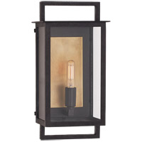 Ian K. Fowler Halle 1 Light 13 inch Aged Iron Outdoor Wall Lantern, Small