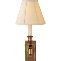 Visual Comfort Studio French 1 Light Decorative Wall Light in Hand-Rubbed Antique Brass S2210HAB-L