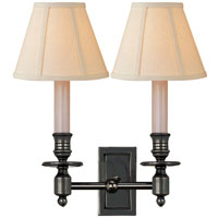 Visual Comfort Studio French 2 Light Decorative Wall Light in Bronze with Wax S2212BZ-L
