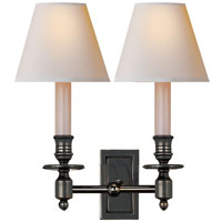 Visual Comfort Studio French 2 Light Decorative Wall Light in Bronze with Wax S2212BZ-NP