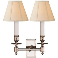 Studio French 2 Light 12 inch Polished Nickel Decorative Wall Light in Linen