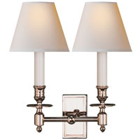 Studio French 2 Light 12 inch Polished Nickel Decorative Wall Light in Natural Paper