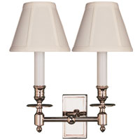 Visual Comfort Studio French 2 Light Decorative Wall Light in Polished Nickel S2212PN-T