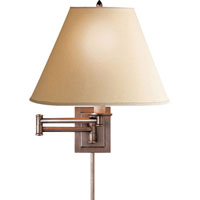 Visual Comfort Studio Primitive 1 Light Swing-Arm Wall Light in Antique Nickel S2500AN-L