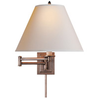 Visual Comfort Studio Primitive 1 Light Swing-Arm Wall Light in Antique Nickel S2500AN-NP