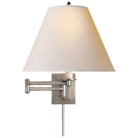 Studio Primitive 18 inch 60 watt Antique Nickel Swing-Arm Wall Light in Natural Paper