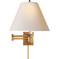 Visual Comfort Studio Primitive 1 Light Swing-Arm Wall Light in Hand-Rubbed Antique Brass S2500HAB-NP