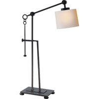 Visual Comfort Studio Aspen 1 Light Task Table Lamp in Hand Painted Blackened Rust S3030BR-NP