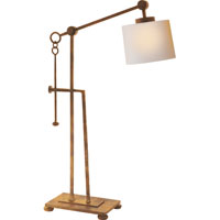 Visual Comfort Studio Aspen 1 Light Task Table Lamp in Gilded Iron with Wax S3030GI-NP