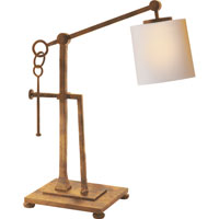 Visual Comfort Studio Aspen 1 Light Task Table Lamp in Gilded Iron with Wax S3031GI-NP